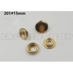 Кнопка латунная Каппа 15 мм, 1шт