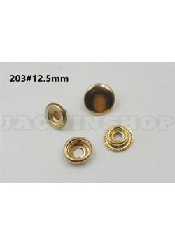 Кнопка латунная Каппа 12,5 мм, 1шт