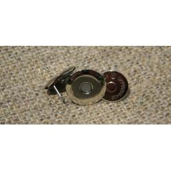 Застёжка магнит тарелочка, антик (диам. 16мм)