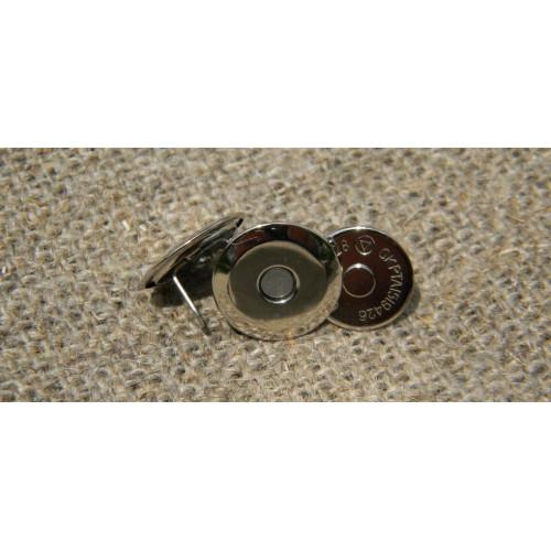 Застібка магніт тарілочка, антик (діам. 16мм)
