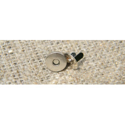 Застёжка магнит, никель (диам. 10мм)