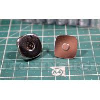 Застібка магніт квадрат 2, нікель