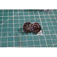Застібка магніт, нікель (діам. 18мм)