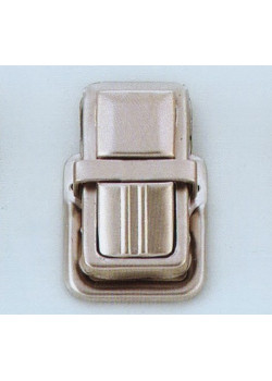 Застёжка портфельная, средняя (никель) квадрат