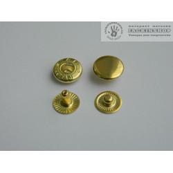 """Кнопка """"альфа"""" 12,5мм 25шт золото"""
