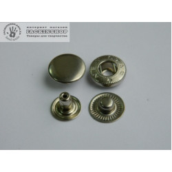 """Кнопка """"альфа"""" 12,5мм 25шт никель"""