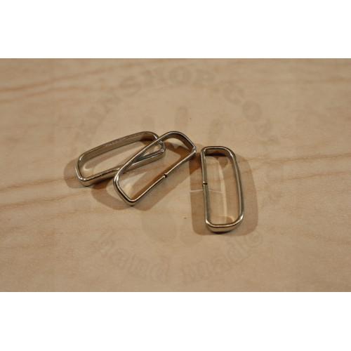 Шлёвка 40мм никель