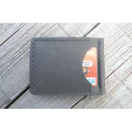 Прижим для купюр пружинный (наружные карманы, черный)