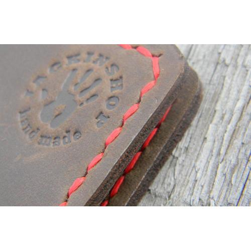 Прижим для купюр пружинный (внутренние карманы, коричневый)