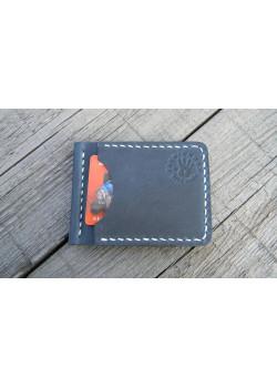 Прижим для купюр пружинный (наружные карманы, синий)