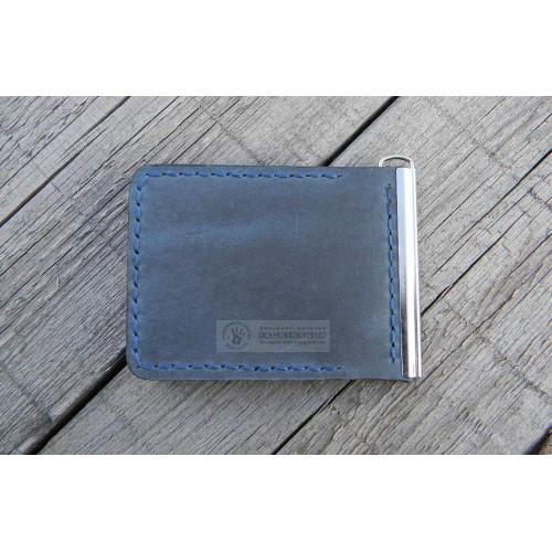 Прижим для купюр (внутренние карманы, синий)