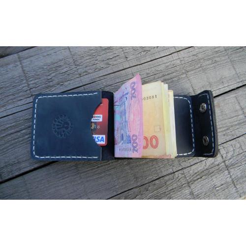 Прижим для купюр 2KМ (внутренние карманы, синий)