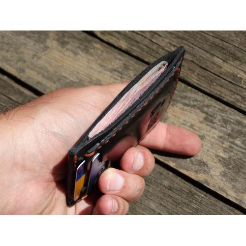 """Картхолдер.  2 карты.  Черный """"Пулл апп"""""""