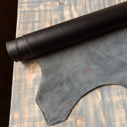 """Шкіра """"Buttero"""", чорний, рослинного дублення, 1,2 мм."""